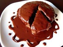Torta di cioccolato ricca Immagini Stock
