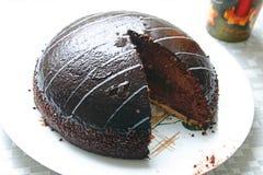 Torta di cioccolato saporita Fotografie Stock Libere da Diritti