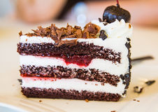 Torta di cioccolato scura Fotografie Stock Libere da Diritti