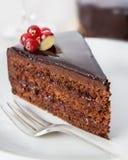 Torta di cioccolato squisita fotografia stock
