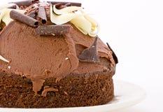 Torta di cioccolato su bianco. Fotografia Stock Libera da Diritti