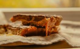 Torta di cioccolato sulla zolla Fotografia Stock