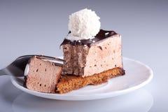Torta di cioccolato Yummy Fotografia Stock Libera da Diritti
