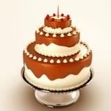 Torta di cioccolato Yummy Fotografie Stock