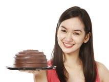 Torta di cioccolato Yummy Immagini Stock