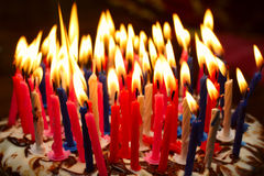 Torta di compleanno Fotografia Stock Libera da Diritti