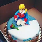 Torta di compleanno immagini stock
