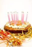 Torta di compleanno Immagine Stock