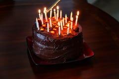Torta di compleanno Immagini Stock Libere da Diritti
