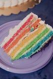 Torta di compleanno colorata Immagine Stock