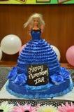 Torta di compleanno delle nipoti Fotografia Stock
