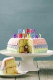 Torta di compleanno di Pinata Fotografia Stock