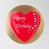 Torta di compleanno isolata su fondo Illustrazione di vettore per uso come biglietto di auguri per il compleanno, logo della past Immagini Stock