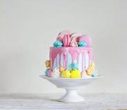 Torta di compleanno Primo piano immagine stock