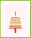 Torta di compleanno sveglia illustrazione vettoriale