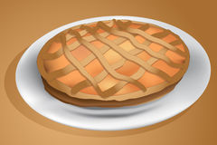 Torta di Crostata Fotografia Stock Libera da Diritti