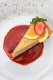 Torta di formaggio, Fotografia Stock Libera da Diritti
