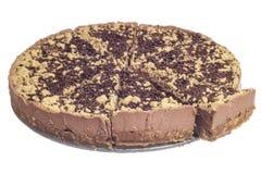 Torta di formaggio affettata del cioccolato Fotografia Stock
