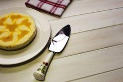 Torta di formaggio al forno fresca del limone fotografia stock libera da diritti