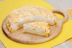Torta di formaggio casalinga Fotografia Stock