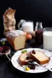 Torta di formaggio casalinga Fotografia Stock Libera da Diritti