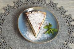 Torta di formaggio casalinga della ciliegia immagine stock libera da diritti