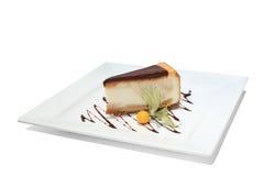 Torta di formaggio con cioccolato Fotografie Stock Libere da Diritti