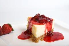 Torta di formaggio con frutta Fotografia Stock