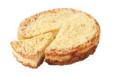 Torta di formaggio con il settore tagliato Fotografia Stock Libera da Diritti