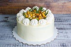 Torta di formaggio crema delicata con anice ed il kumquat Immagine Stock