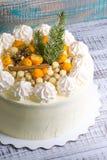 Torta di formaggio crema di Natale Immagini Stock Libere da Diritti