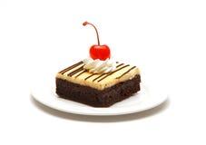 Torta di formaggio del brownie Fotografie Stock