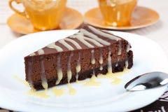 Torta di formaggio del cioccolato Immagine Stock