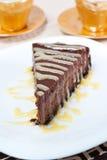 Torta di formaggio del cioccolato Fotografie Stock