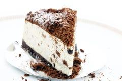 Torta di formaggio del cioccolato Fotografie Stock Libere da Diritti