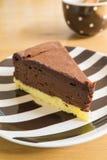 Torta di formaggio del cioccolato Immagini Stock