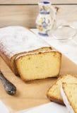 Torta di formaggio del cottage con semolino Fotografie Stock