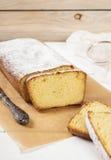 Torta di formaggio del cottage con semolino Immagine Stock