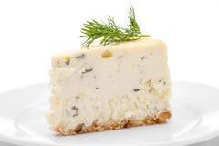 Torta di formaggio del formaggio blu Immagini Stock Libere da Diritti