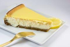 Torta di formaggio del limone fotografia stock