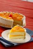 Torta di formaggio del limone Fotografie Stock Libere da Diritti