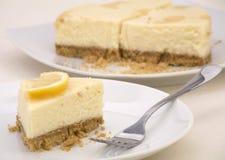 Torta di formaggio del limone fotografie stock