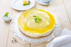 Torta di formaggio del mango immagini stock
