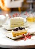 Torta di formaggio del mirtillo Fotografia Stock Libera da Diritti