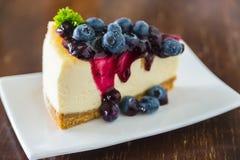 Torta di formaggio del mirtillo Immagine Stock Libera da Diritti