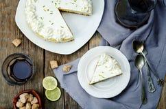 Torta di formaggio della calce fotografie stock libere da diritti