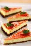 Torta di formaggio della caramella fotografia stock libera da diritti