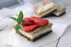 Torta di formaggio della foto Fotografie Stock Libere da Diritti