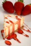 Torta di formaggio della fragola fotografia stock libera da diritti
