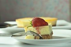 Torta di formaggio della fragola Immagine Stock Libera da Diritti